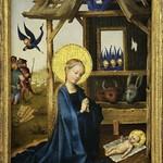 25 Стефан Лохнер Поклонение младенцу, 1445 Мюнхен Пинакотека