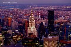 New York ...  il Chrysler Building ... (alberto borella) Tags: notte grattacieli skyline chryslerbuilding newyork manhattan