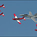 PC-7 Team + F/A-18C Hornet  Swiss Air Force