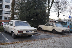 1974 Audi 100 LS & 1968 Mercedes-Benz 250 (NielsdeWit) Tags: nielsdewit car vehicle 88ya41 audi 100 ls 1974 ede w114 w115 mercedesbenz mercedes 250 duo ah7924