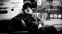Did it make any difference ? (Neil. Moralee) Tags: neilmoralee man beard hat terrorist terror taliban difference camoflage cloths liverool homeless alone ptsd poverty poor unemployed uk britain service army soldier street candid black white mono monochrome blackandwhite blackwhite neil moralee bw blackbackground cold winter sitting lost depressed ill illness mental health highiso