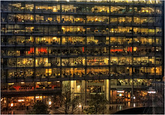 Week 47 Little boxes (Dominic@Caterham) Tags: building offices city people boxes lights london windows glass