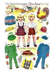 TO GRANDMA'S FOR THANKSGIVING (Kleiaa) Tags: thanksgiving thanksgivingpaperdoll paperdoll hildamiloche hildamilochepaperdoll