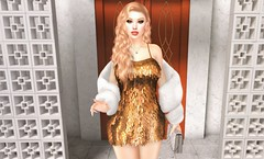 Cocktails (EnviouSLAY) Tags: gold cocktail dress shiney bag clutch white makeup eyeshadow lipstick blonde blond longhair long hair stole fur newreleases new releases colivatibeauty stealthic colivati beauty erratic twhore colivatiboutique boutique ascendant nails kibitz necklace belleevents belle events monthlyevent monthlyfashion monthlyfair monthly fashion fair event pale female male gay lgbt blogger secondlife second life photography
