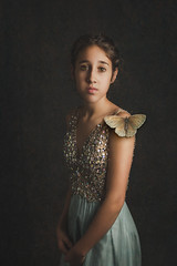 Painterly Portrait (Bobbi Fox Photography) Tags: 2019 35mm bfoxphotography bobbifoxphotography chehalis nikond7000 olympia ruby portrait studio soulful painterly butterfly