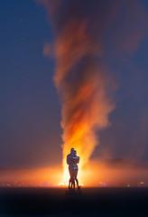 Magazine Cover (Trey Ratcliff) Tags: blackrockcity burningman burningman2018 nevada stuckincustomscom treyratcliff michael benisty sculpture night fire burn cover magazine