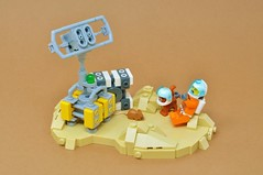 Cats In Space Is Essential (Inthert) Tags: lego space cat cargo vignette astronaut mouse crate radar dish helmet