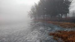 Fog and Ice (jtr27) Tags: img20191122154421 pond fog ice wilsonpond maine wayne moto g7