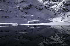 Lago Bianco- Graubünden - Schweiz (Felina Photography - www.mountainphotography.eu) Tags: abstract lagobianco water snow rocks reflection schweiz switzerland graubünden svizzera suisse zwitserland