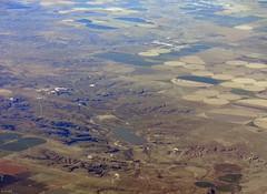 Palo Duro Lake and Gruver, TX (zeesstof) Tags: aerial aerialview businesstrip commercial commercialflight flight geo:lat=3650045638 geo:lon=10091703958 geotagged houstontodenver iahtoden triptodenver unitedairlines viewfromwindow zeesstof