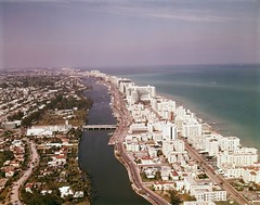 Aerial view looking north at hotels along Indian Creek in Miami Beach (State Library and Archives of Florida) Tags: florida miami hotels aerialviews indiancreek rivers miamibeach miamifl miamiflorida aerialphotograph aerialphotography aerialphoto