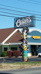 Cesar's Mexico (Adventurer Dustin Holmes) Tags: 2019 missouri restaurant restaurants sign signs springfield mi springfieldmo springfieldmissouri greenecounty business businesses skeletons outdoor dining placestoeat mexicanfood mexican cesarsmexico qdoba