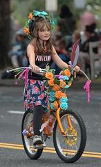 Portland Parade Rider (Scott 97006) Tags: girl kid ride parade cute bike flowers bicycle
