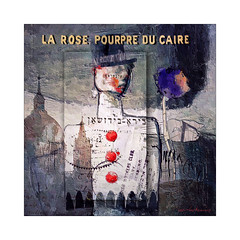 The Purple Rose of Cairo (jimlaskowicz) Tags: jimlaskowicz artistic impressionistic textures painterly whimsical surreal art poster rose purple cairo dream