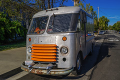You know its a sweet ride when the dash bouquet matches the grill color. (danielnotnow1) Tags: sanluisobispo vanlife automobiles color orange leica leicaq2