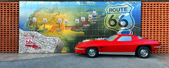 Route 66 Mural (crowt59) Tags: mother road route 66 joplin mo missouri map mural red car crowt59 nikon d850 sigma 1224mm a nikonflickraward