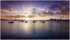 Waitemata Harbour Sunrise (cjhall.nz) Tags: serenity calm bliss tokina1120 canonr framedinnz newzealand auckland northshore seascape landscape morning mooring boats yachts beach sea firstlight daybreak dawn sunrise harbour waitemata
