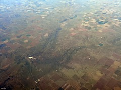 Optima Lake, OK (zeesstof) Tags: aerial aerialview businesstrip commercial commercialflight flight geo:lat=3669158187 geo:lon=10113022804 geotagged houstontodenver iahtoden triptodenver unitedairlines viewfromwindow zeesstof