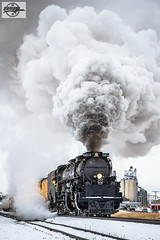 "Westbound UP ""Great Race Across the Southwest"" Passenger Train at Oakley, KS (Mo-Pump) Tags: train railroad railfan railroader railway railroading railroads railfanrailroader locomotive big boy up 4014 uprr unionpacificrailroad unionpacific 4884 alco bigboy"