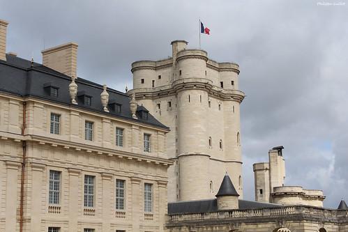 Château de Vincennes : le Pavillon du Roi et le donjon