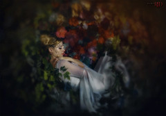No More Yielding Than A Dream (Spoken in Red) Tags: fairytale slumber hibernation fantasy dreaming bedofflowers night blooms princess fae pearls silk gossamer glowing nestsleeping crownleaves verdant nature conceptualportrait painterly fineartportrait fineartphotographyspokeninred beautifulwomanfeminine ethereal dreamy dreamlike