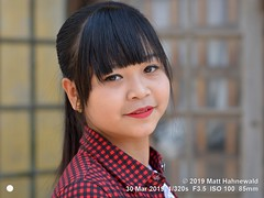 2019-03a Burma (40e) May (Matt Hahnewald) Tags: matthahnewaldphotography facingtheworld qualityphoto people head dollface face eyes eyeliner beautifuleyes mouth teeth lips lipstick expression lookingatcamera hairstyle fringe bangs consensual conceptual beauty fashion style local oriental cultural inspiring photoshoot kalaw shanstate myanmar asia asian burmese person one female girl teen young woman portraiture detail primelens nikond610 nikkorafs85mmf18g 85mm 4x3ratio resized 1200x900pixels horizontal street portrait closeup headshot threequarterview sidewaysglance outdoor naturallight colour posingcamera cute smiling feminine beautiful attractive pretty lovely fabulous variation distinction sensual