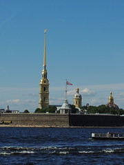 St. Petersburg: Peter and Paul Cathedral (Anita363) Tags: stpetersburg russia unescoworldheritagesite architecture building baroque peterandpaulfortress peterandpaulcathedral fortress fort neva nevariver
