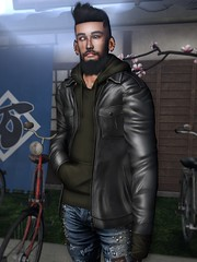☠ WHATEVER (Shock Q'Kell) Tags: secondlife sl bloggers slbloggers male men man boy lelutka andrea head mesh bento signature bopy gianni fuoey beard facialhair eyebrows andore ears stealthic hair slhair legalinsanity pants jeans mancave event amias jacket hoodie photo slphoto moda slmoda style fashion mainstore store