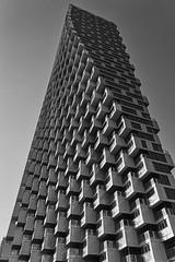 Building Geometry (Sworldguy) Tags: vancouver bjarkeingels architecture rectangular spiral skyscraper skyline vancouverhouse blackwhite geometric landmark downtown urban
