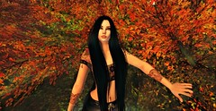 Surrounded by a Treasure 2/2 (karou Black) Tags: secondlife olive nanika autumn goldenleaves