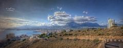(307/19) Con Benidorm al fondo (Pablo Arias) Tags: pabloarias photoshop nx2 cielo nubes arquitectura paisaje carretera edificios torre rascacielos benidorm alicante