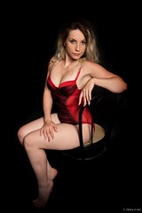 Angélique (henrychristo27 (Christophe)) Tags: lingerie rouge sensuality portraiture women beauty sensuelle studio boudoir