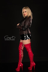 Curves and Designer Jackets (KellyKooper) Tags: kellykooper pvc boots thigh high heels leather jacket leatherjacket editorial fashion commercial stylish melbourne designer garybradshaw