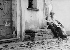 Per tutta la vita... (franchiric) Tags: cane oldman anziano uomo monbarcaro italia piemonte elements