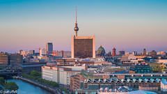Berlin Skyline (patuffel) Tags: skyline berlin fernsehturm tv tower spree reichstag terrace city m10 leica summicron 50mm pano panorama cityscape dom cathedral berliner rotes rathaus