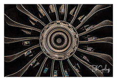 Somewhat stripped (Bob Geilings) Tags: airplane motor aviation closeup maintenance engineering fan spinner fanblade blades