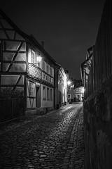 Ancient Village Koenigsberg (Deepmike70) Tags: blackandwhite studwork cobblestone village ancient historical street