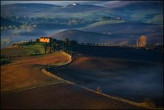 Il giorno si sveglia (angelofruhr) Tags: italy italia italien toskana tuscany pienza mattina sunrise alba dorcia valdorcia sonnenaufgang nebel morgen landscape landschaft nebbia fog wow