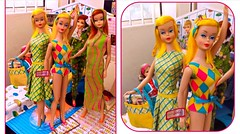 COLOR MAGIC SISTERS (ModBarbieLover) Tags: color magic barbie doll mattel fashion vintage 1966 1967 toy yellow pink green blue