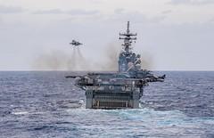 Boxer ARG Conducts Air Show (MarineCorpsAviationAssociation) Tags: usnavy unitedstatesnavy ussharpersferry forgedbythesea sailors lsd49 amphibiousdocklandingship lsd harpersferryclass underway ussboxeramphibiousreadygroup arg us3rdfleet deployment tigercruise airshow ussboxer lhd4 pacificocean