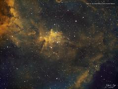 Heart of the Heart Nebula - Hubble Palette (Ralph Smyth) Tags: hubble melotte nebula melotte15 ic1805 heart cassiopeia narrowband zwo skywatcher astrometrydotnet:id=nova3757609 astrometrydotnet:status=solved
