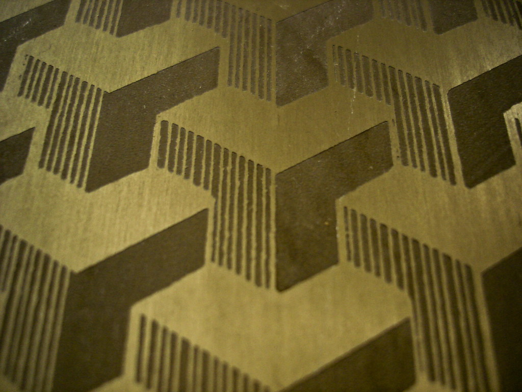 фото: Узор на алюминиевом листе