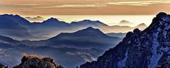 spremuta di nebbia (art & mountains) Tags: alpi alps orobie brembana venturosa cancervo cime creste calcare roccia dolomia hiking esc esp susseguire profili natura silenzio contemplazione vision dream spirit nebbia padana