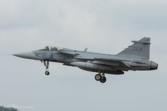 Swedish Air Force, Saab JAS-39C Gripen (39268/268), F7 (mattmckie98) Tags: aircraft aviation airforce airshow sweden jet fighter fairford riat nikon military