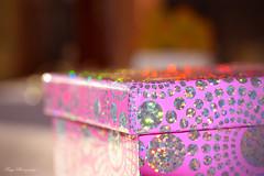 Glitter and shine... (Maria Godfrida) Tags: lookingcloseonfriday box closeup pink glitter shine sparkle bokeh light spectrumcolours