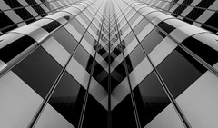 Let's go downtown (Robin Wechsler) Tags: architecture city urban design abstract building patterns reflection blackandwhite downtown sanfrancisco street