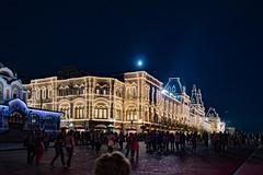 Piazza Rossa-i grandi magazzini GUM... (Renato Pizzutti) Tags: russia mosca piazzarossa grandimagazzinigum luminarie luci notturno gente nikon renatopizzutti