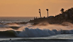 Ancor Point, Taghazout (EvenHarbo) Tags: nikon nikond7100 marokko moroc morocco taghazout anchorpoint surfer water waves wave ocean sunset surfing africa evening sea seascape
