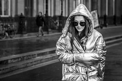 Silver Lining (Leanne Boulton) Tags: urban street candid portrait portraiture streetphotography candidstreetphotography candidportrait streetportrait streetlife silverlining woman female girl sunglasses face expression mood emotion feeling cold winter weather coat silver reflective contrast shine shiny wrapped tone texture detail depthoffield bokeh fashion style naturallight outdoor dark light shade city scene human life living humanity society culture lifestyle people canon canon5dmkiii 70mm ef2470mmf28liiusm black white blackwhite bw mono blackandwhite monochrome glasgow scotland uk