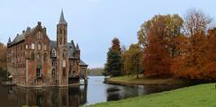 Castle Wissekerke- Bazel - Belgium (roland_tempels) Tags: bazel castle wissekerke supershot belgiumgardens belgium water parc autumn trees naturereserve nature